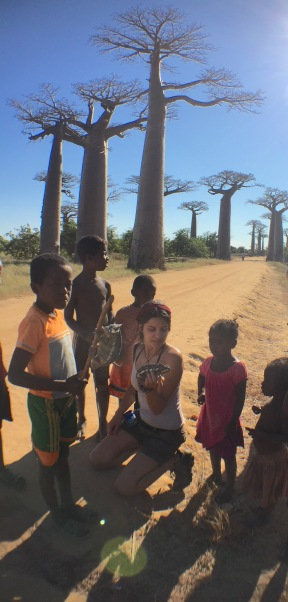 Talking about chameleons to local Malagasy communities